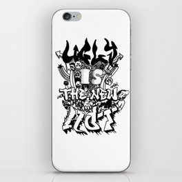 Ugly is the new hot - Monster lettering iPhone Skin