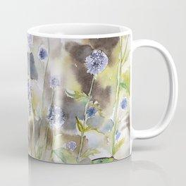 Echinops Ritro Florals Watercolor, Meadow, Landscape Coffee Mug