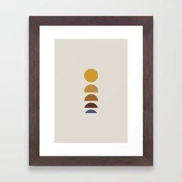 Minimal Sunrise / Sunset Framed Art Print