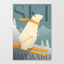Ski Hayward Canvas Print