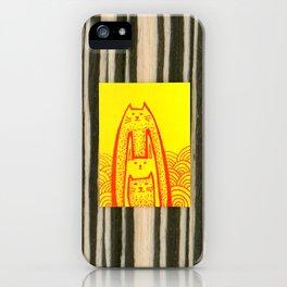 Rabbit Cat 3 iPhone Case