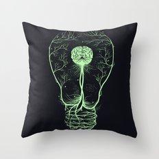 Enlightenment {Green} Throw Pillow