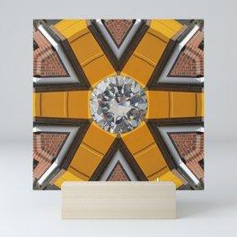Diamond Building by Kunsthaus-Lay Mini Art Print
