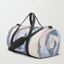 Geometric Layers of Color Duffle Bag
