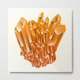 Orange Formation Metal Print