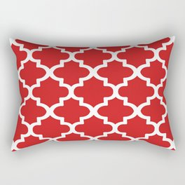 Arabesque Architecture Pattern In Red Rectangular Pillow