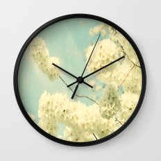 The Blossom and the Bee Wall Clock