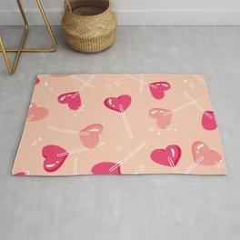 Heart Lollipops - Pink Palette Rug