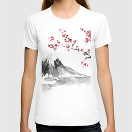 Sunset Over Mt Fuji T-shirt
