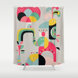 Jungle of elephants Shower Curtain