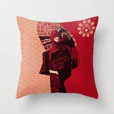 ASIAN WOMAN Throw Pillow