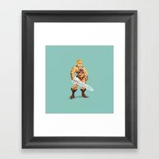 By The Power Of 8-Bit Framed Art Print