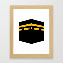 Qibla Icon Framed Art Print