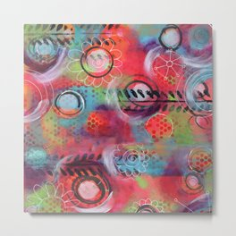 """Spinning!""   Original painting by Mimi Bondi Metal Print"