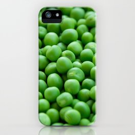 Green peas veggie pattern iPhone Case