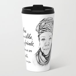 Maya Angelou Quote from Human Family Travel Mug