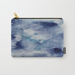 Blue Acrylic Abstract Painting Carry-All Pouch