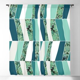 Teal Herringbone #society6 #teal #succulent Blackout Curtain