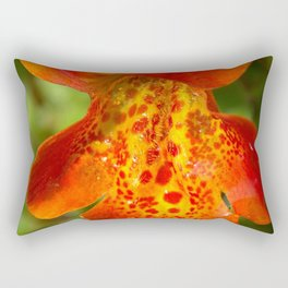 Orange spotted wildflower 97 Rectangular Pillow
