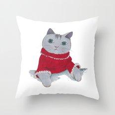 Cozy Cat Throw Pillow