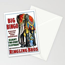 Big Bingo - Vintage 1916 Circus Poster Stationery Cards