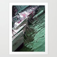 boats Art Prints featuring boats by Angela Bruno