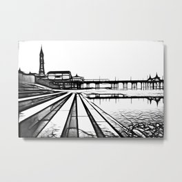Iconic Blackpool Metal Print