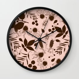 Botanical foliage neutral Wall Clock