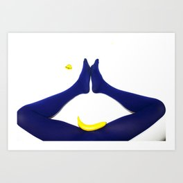 Dentro ogni bocca c'è un abisso. Blu Art Print