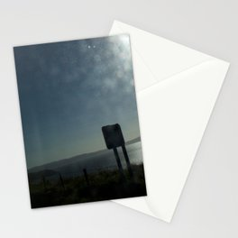 Bus window coast view Stationery Cards