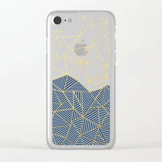Ab Half and Half Navy Gold Clear iPhone Case