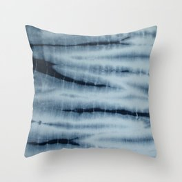 Grey Tie Die Throw Pillow