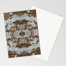Stone Wall Pattern with dried up Plants Stationery Cards
