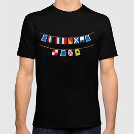 St Thomas Nautical Flags T-shirt