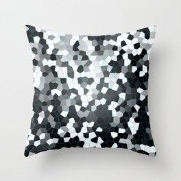 Black- white digital art. Monochrome design. Throw Pillow
