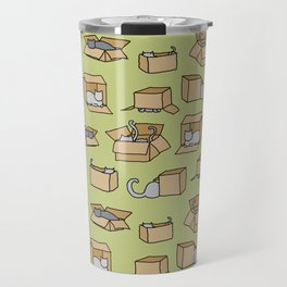 Cats in Cardboard Boxes Travel Mug