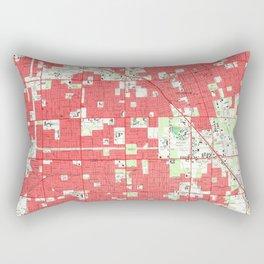 Vintage Anaheim & Garden Grove CA Map (1952) 3 Rectangular Pillow
