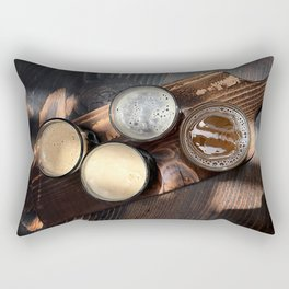 Flight of Beer Rectangular Pillow