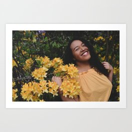 garden girl Art Print