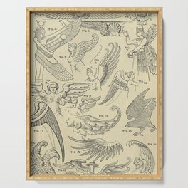 Winged Mythology Serving Tray