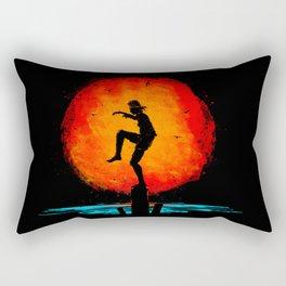 Minimalist Karate Kid Tribute Painting Rectangular Pillow