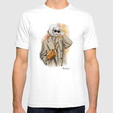Fall fashion Mens Fitted Tee MEDIUM White