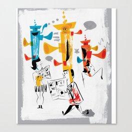 Thinking Caps Canvas Print