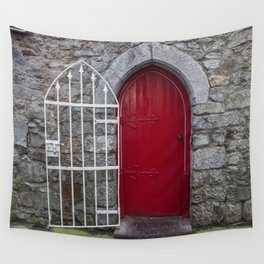 Red Door Galway, Ireland Wall Tapestry