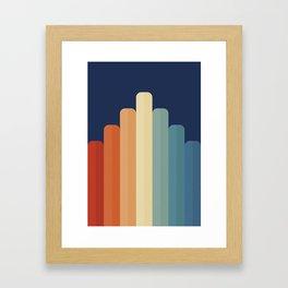 Retro Chart Framed Art Print