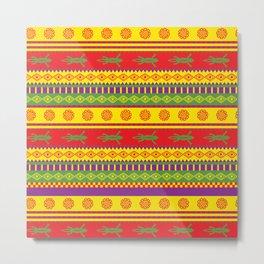 gecko mexican pattern Metal Print