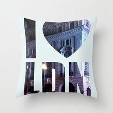 I HEART LONDON Throw Pillow