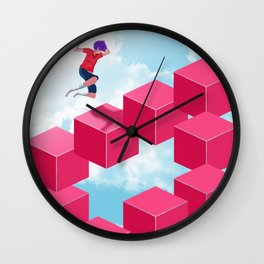 Cube Hopper Wall Clock