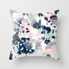 Tate - abstract modern minimal painting art nursery baby office home decor minimalist modern nursery Throw Pillow