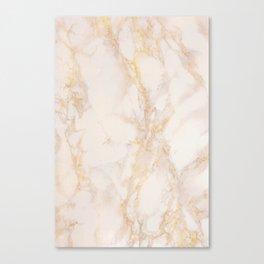 Gold Marble Natural Stone Gold Metallic Veining Beige Quartz Canvas Print
